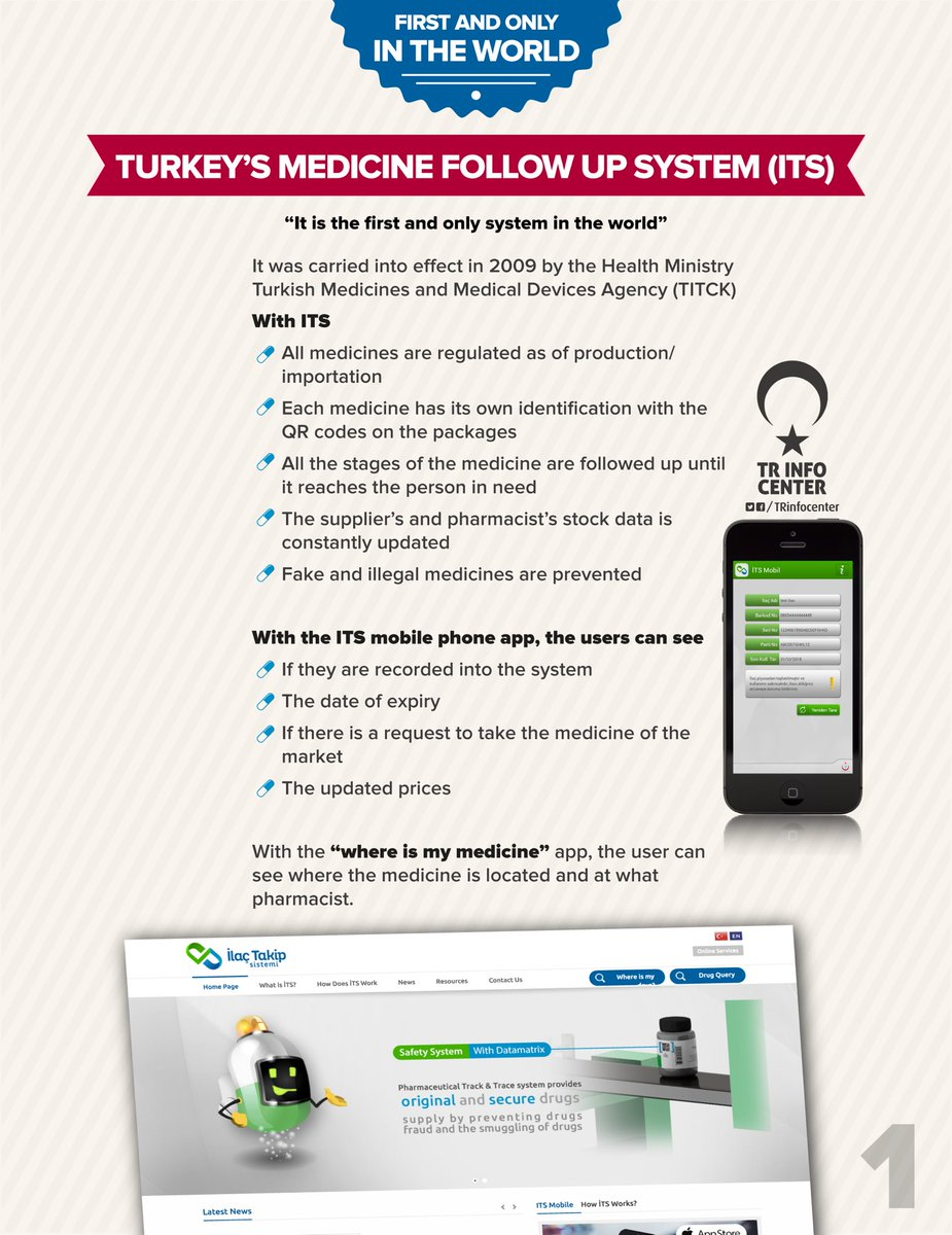 Turkey's exemplary project: Turkey's Medicine Follow up System (made in Turkey)